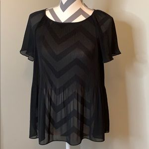 Banana Republic sheer short sleeved blouse